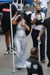 "Bebe Rexha – New Music Video Shoot for ""Baby I'm Jealous"" in LA 09/23/2020"