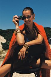 Bella Hadid - Harley Weir for Versace Dylan Turquoise September 2020 Photos and Videos