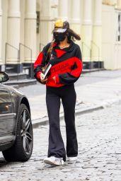Bella Hadid Street Style - Arriving at a Studio in Brooklyn 09/28/2020