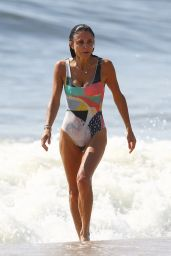 Bethenny Frankel in a Swimsuit - Surf Class Day in Hamptons 09/08/2020