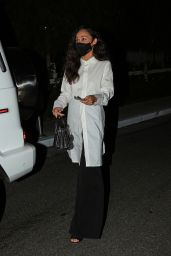 Cara Santana in Monochrome Outfit - San Vicente Bungalows in LA 09/21/2020