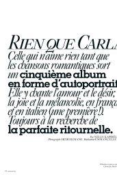 Carla Bruni - Vogue Paris October 2020 Issue