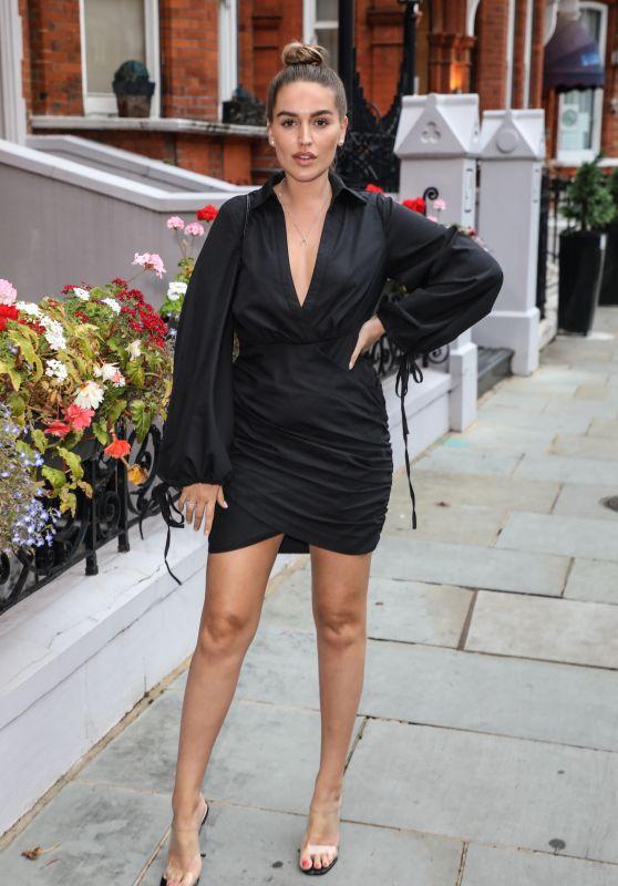 Chloe Ross in a Little Black Dress - London 09/02/2020