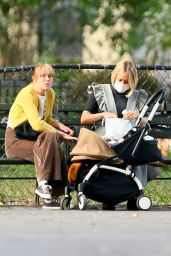 Chloe Sevigny - Walk With Her Baby and a Friend in NY 09/23/2020