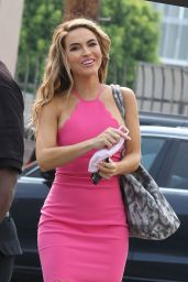 Chrishell Stause in a Hot Pink Dress - Los Angeles 09/09/2020