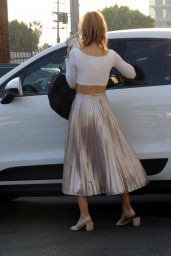 Chrishell Stause Street Style - Leaving the DWTS Studio in LA 09/27/2020