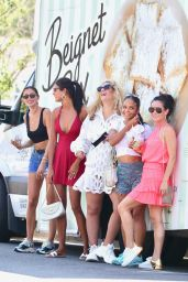 Christina Milian - Working at Her Beinet Box Truck in LA 09/06/2020
