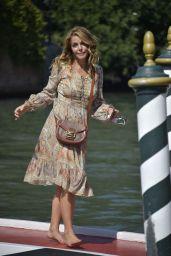 Claudia Gerini – Arriving at Hotel Excelsior in Venice 09/05/2020