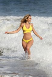 Dasha Inyutkina in Yellow Bikini  - 138 Water Photoshoot in Malibu 09/14/2020