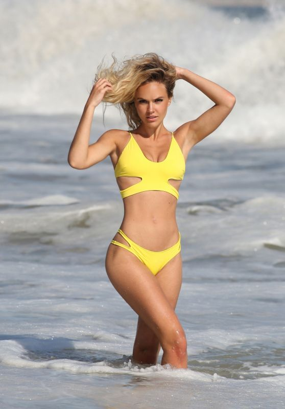 Dasha Inyutkina in Yellow Bikini  - 138 Water Photoshoot in Malibu 09/14/2020