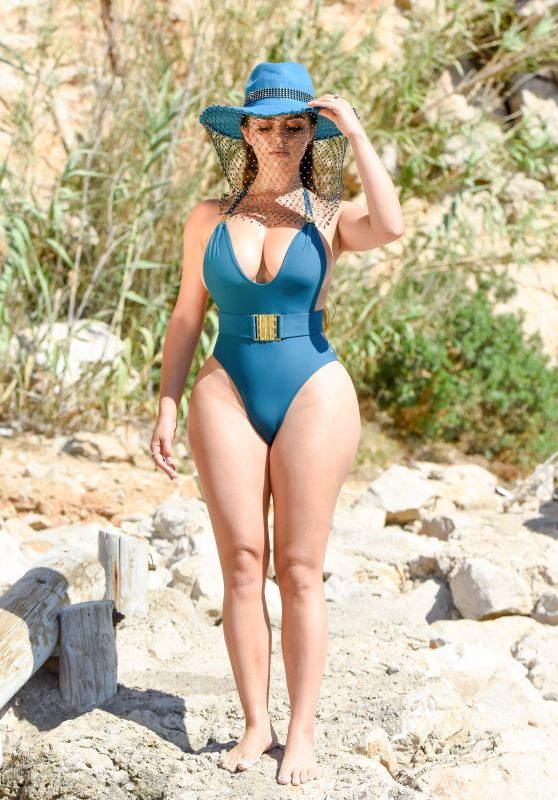 Demi Rose in a Swimsuit - Photoshoot in Ibiza 08/17/2020