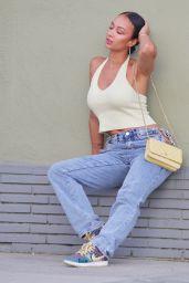 Draya Michele at a Restaurant in Los Feliz 09/20/2020