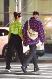 Dua Lipa in Motoguo Daisy Cardigan - Out in New York 09/21/2020