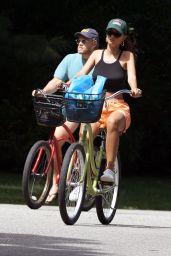 Emily Ratajkowski - Bike Ride in the Hamptons 08/30/2020