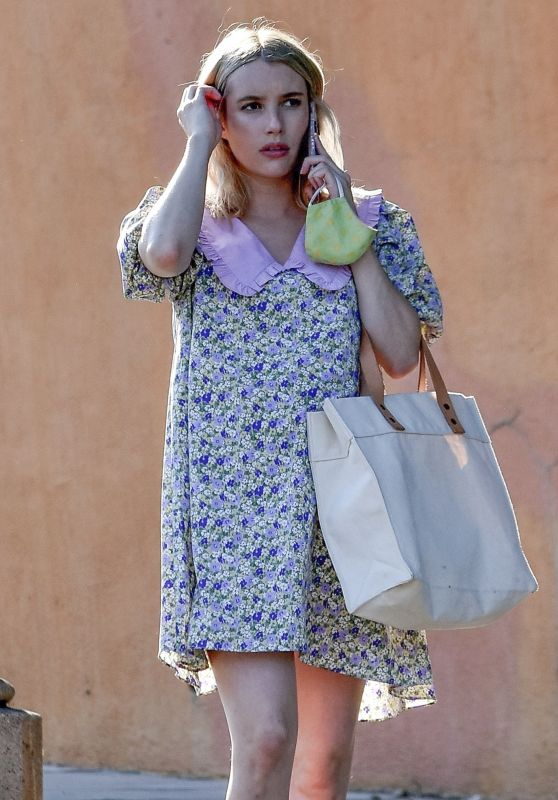 Emma Roberts Cute Style - Los Angeles 09/29/2020