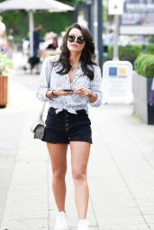 Faye Brookes Leggy in Shorts at Terrence Paul in Cheshire 09/15/2020