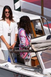 Francesca Sofia Novello - Arriving at the Excelsior in Venice 09/03/2020