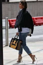 Frankie Bridge in Casual Outfit - London 08/30/2020