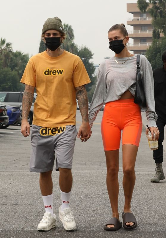 Hailey Bieber and Justin Bieber - Head to Pilates in Beverly Hills 09/12/2020