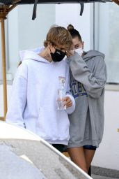 Hailey Bieber and Justin Bieber - Out in West Hollywood 09/23/2020