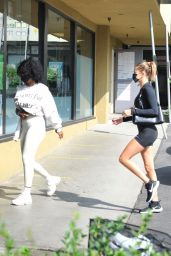 Hailey Bieber and Justine Skye - Out in Los Angeles 09/21/2020