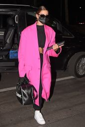 Hailey Bieber in Travel Outfit - Leaving Milan 09/27/2020