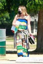 Hilary Duff at a Local Park in LA 09/04/2020