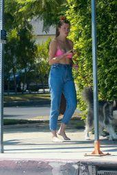 Ireland Baldwin With Her Dog - Los Angeles 09/03/2020