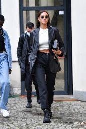 Irina Shayk at the Boss Fashion Show in Milan 09/23/2020