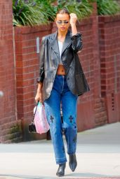 Irina Shayk in Casual Outfit - New York 09/14/2020