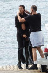 Irina Shayk - Vogue Germany Photoshoot Set at Lake Como 09/27/2020