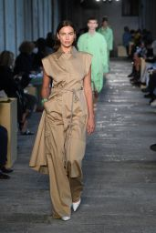 Irina Shayk - Walks Boss Fashion Show at the Milan Women
