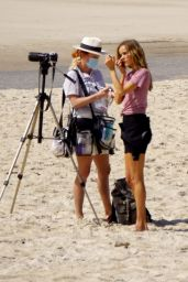 Isabel Lucas on the Set of a Film - Byron Bay 09/02/2020