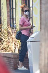 Isla Fisher at Alfred Coffee in LA 09/21/2020