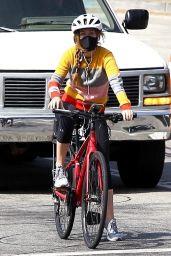 Isla Fisher Riding Her Bike - Hollywood Hills 09/01/2020