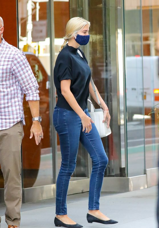 Ivanka Trump Street Style - Leaving an Office Building in NYC 09/18/2020