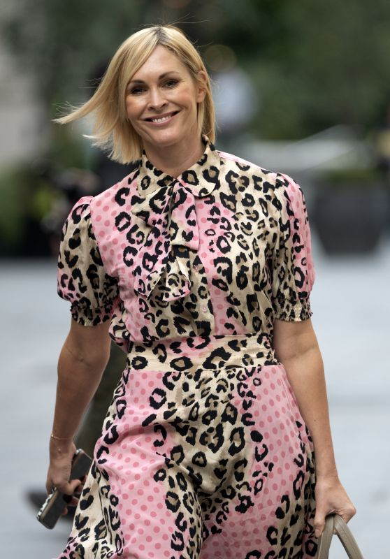Jenni Falconer in Animal Print Dress - London 09/07/2020