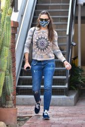 Jennifer Garner in New Age Print Sweater - Brentwood 09/17/2020