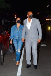 Jennifer Lopez and Alex Rodriguez at Carbone Restaurant in Manhattan 09/08/2020