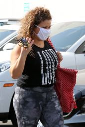 Justina Machado - Arriving for practice at the DWTS studio in LA 09/18/2020
