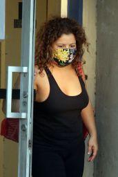 Justina Machado -Leaving Practice at the Dance Studio in LA 09/17/2020