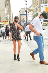 Kaia Gerber and Jacob Elordi in Midtown Manhattan, NY 09/09/2020