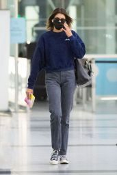 Kaia Gerber in Travel Outfit at JFK Airport in NY 09/23/2020