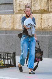 Kaley Cuoco On Her Phone - NYC 09/27/2020
