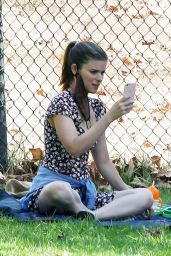 Kate Mara at a Park in LA 09/07/2020