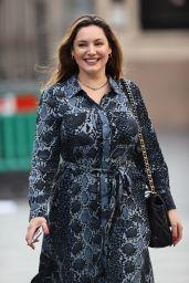Kelly Brook in a Snakeskin Patterned Flattering Dress - London 09/11/2020