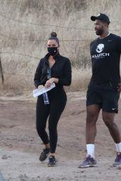 Khloe Kardashian With Tristan Thompson - Filming KUWTK in Malibu Hills 09/02/2020