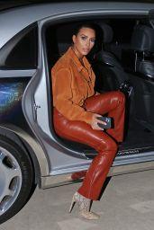 Kim Kardashian in Leather and Suede - Malibu 08/31/2020