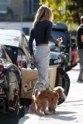 Kimberley Garner - Walks Her Dog in Chelsea 09/28/2020