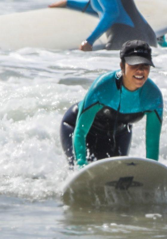 Kourtney Kardashian - Surf Lesson in Malibu 09/27/2020